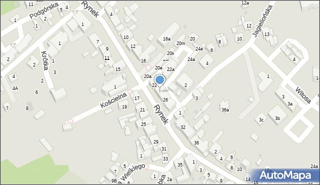 Dobczyce, Rynek, 24, mapa Dobczyce