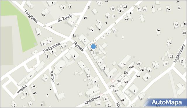 Dobczyce, Rynek, 6, mapa Dobczyce