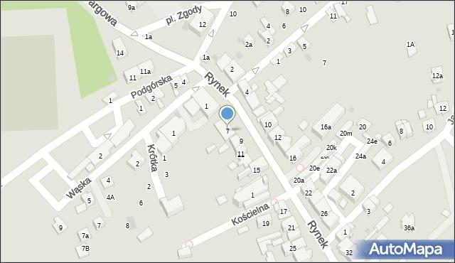 Dobczyce, Rynek, 7, mapa Dobczyce