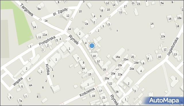 Dobczyce, Rynek, 8, mapa Dobczyce