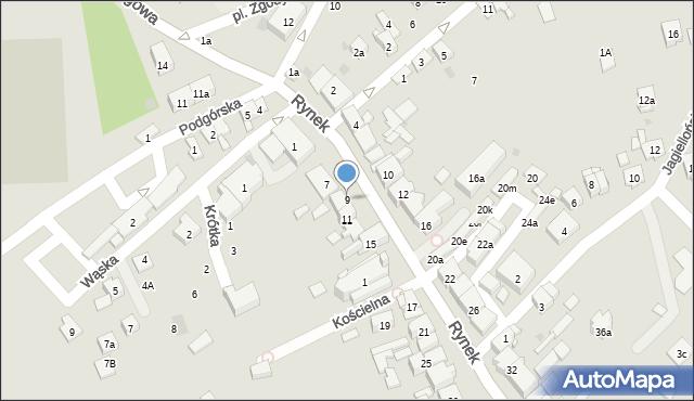 Dobczyce, Rynek, 9, mapa Dobczyce