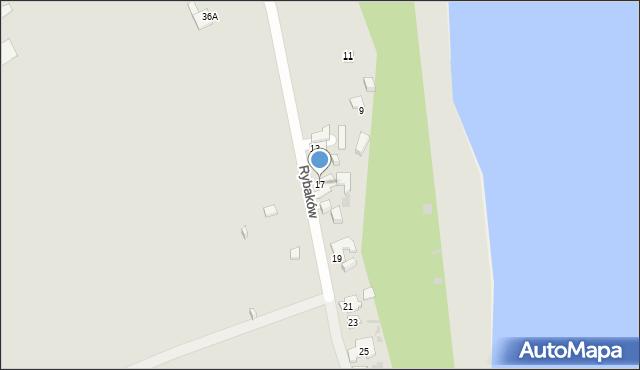 Gdynia, Rybaków, 17, mapa Gdyni