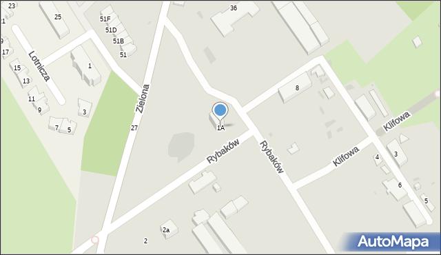 Gdynia, Rybaków, 1A, mapa Gdyni