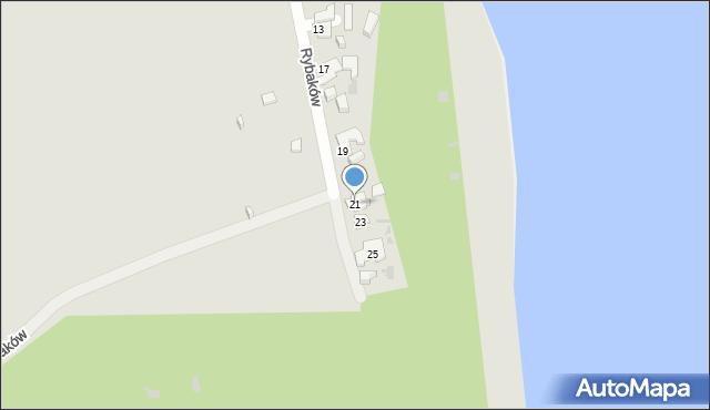 Gdynia, Rybaków, 21, mapa Gdyni