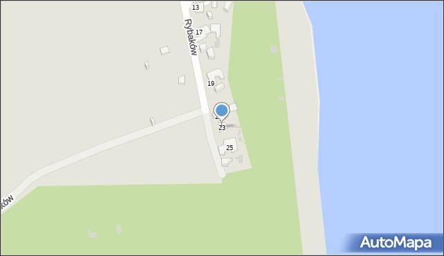 Gdynia, Rybaków, 23, mapa Gdyni