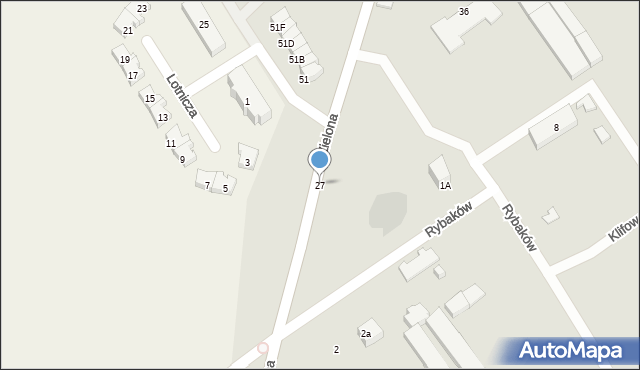 Gdynia, Rybaków, 27, mapa Gdyni