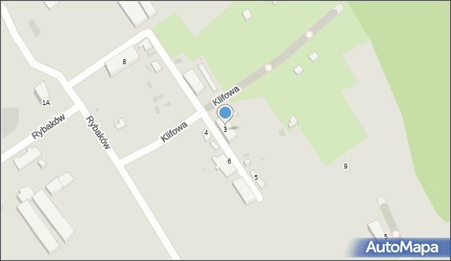 Gdynia, Rybaków, 3, mapa Gdyni