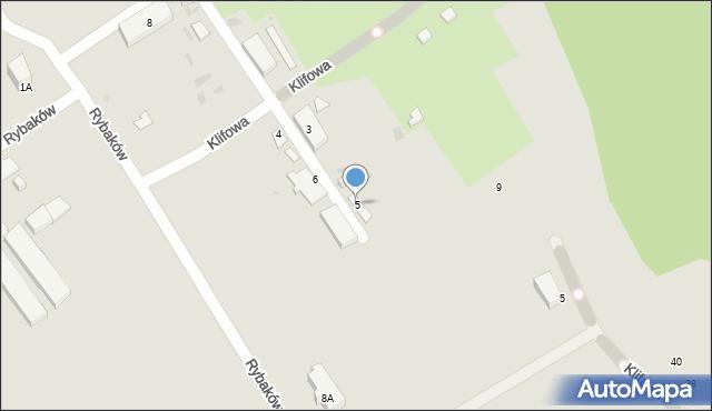 Gdynia, Rybaków, 5, mapa Gdyni