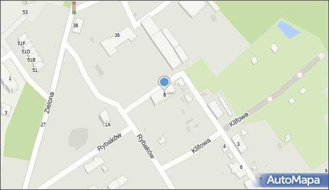Gdynia, Rybaków, 8, mapa Gdyni