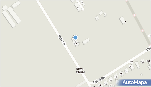 Gdynia, Rybaków, 8A, mapa Gdyni