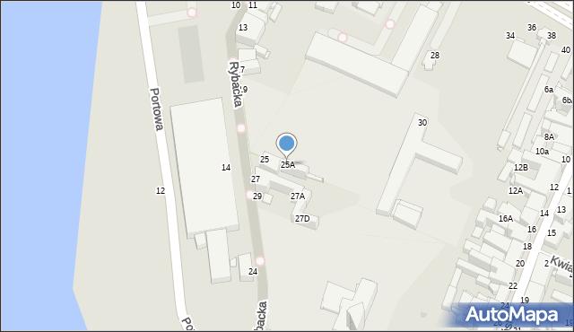 Grudziądz, Rybacka, 25A, mapa Grudziądza