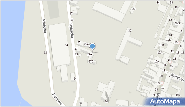 Grudziądz, Rybacka, 27B, mapa Grudziądza
