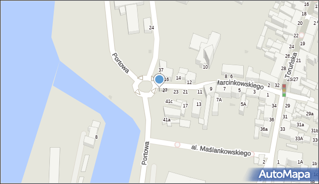 Grudziądz, Rybacka, 39, mapa Grudziądza