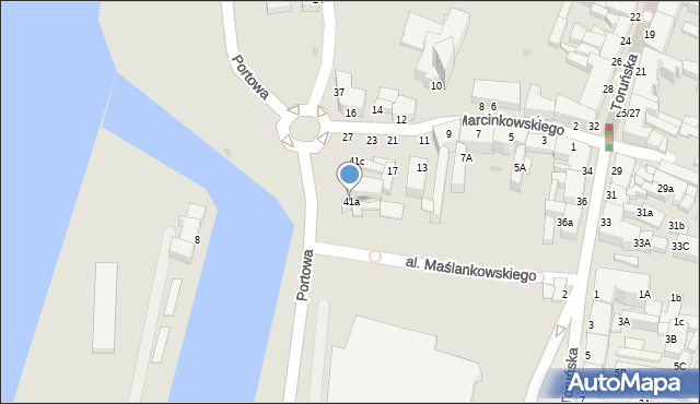 Grudziądz, Rybacka, 41a, mapa Grudziądza