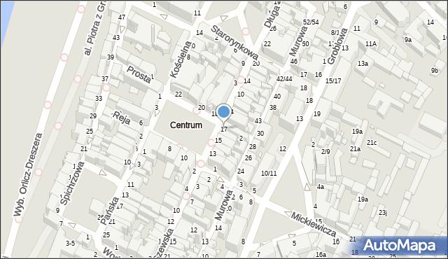 Grudziądz, Rynek, 17, mapa Grudziądza