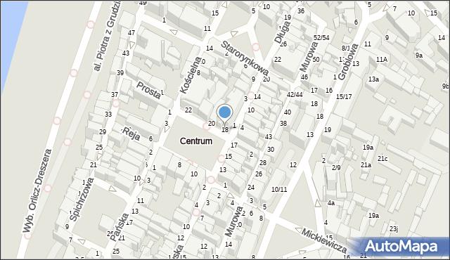 Grudziądz, Rynek, 18, mapa Grudziądza
