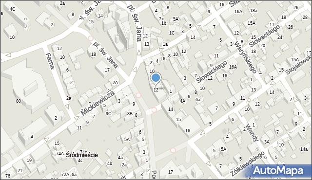 Jaworzno, Rynek Główny, 12, mapa Jaworzno