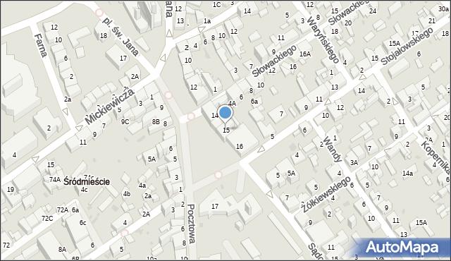 Jaworzno, Rynek Główny, 15, mapa Jaworzno