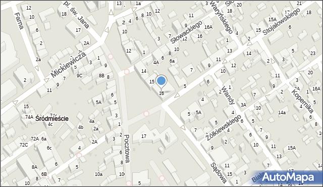 Jaworzno, Rynek Główny, 16, mapa Jaworzno