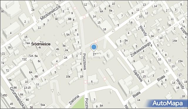 Jaworzno, Rynek Główny, 17, mapa Jaworzno