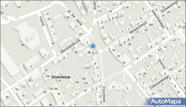 Jaworzno, Rynek Główny, 8, mapa Jaworzno