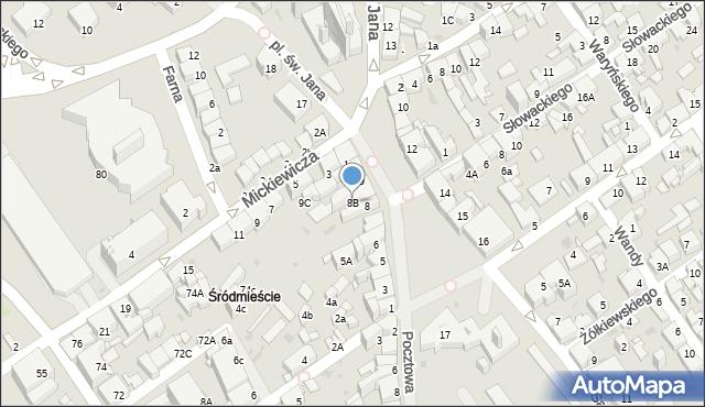 Jaworzno, Rynek Główny, 8B, mapa Jaworzno
