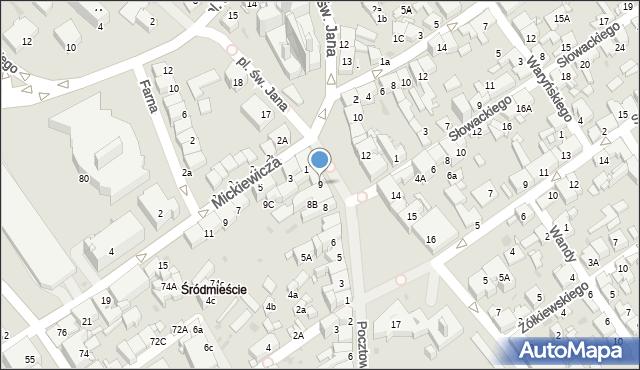 Jaworzno, Rynek Główny, 9, mapa Jaworzno