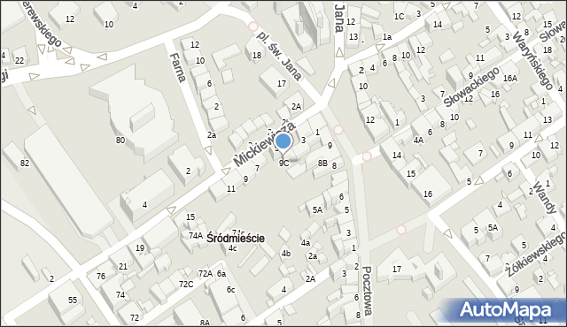 Jaworzno, Rynek Główny, 9a, mapa Jaworzno