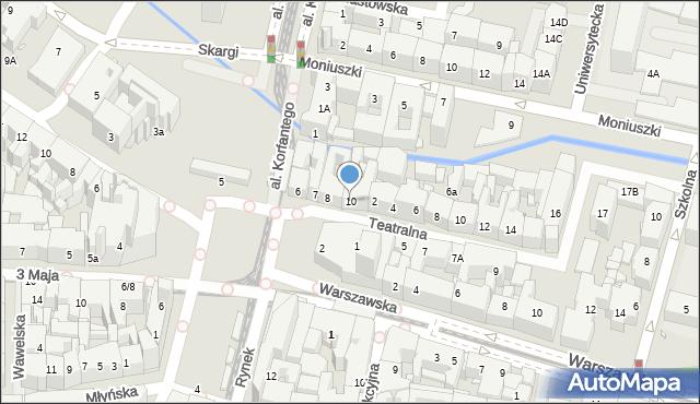 Katowice, Rynek, 10, mapa Katowic