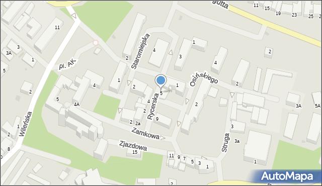Kętrzyn, Rycerska, 5, mapa Kętrzyn