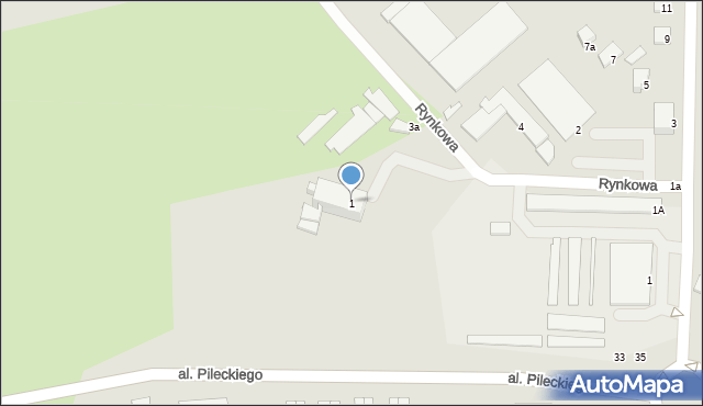 Kętrzyn, Rynkowa, 1, mapa Kętrzyn