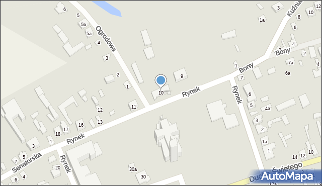 Latowicz, Rynek, 10, mapa Latowicz