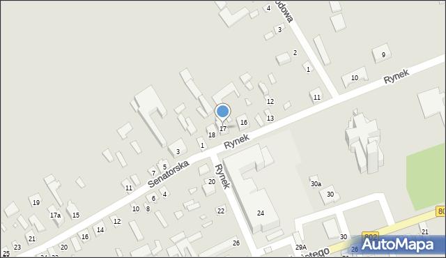 Latowicz, Rynek, 17, mapa Latowicz