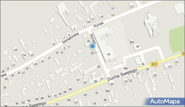 Latowicz, Rynek, 22, mapa Latowicz