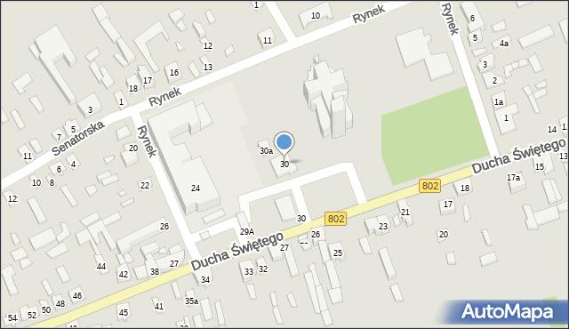 Latowicz, Rynek, 30, mapa Latowicz