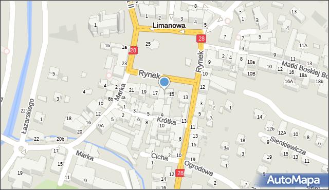 Limanowa, Rynek, 16, mapa Limanowa