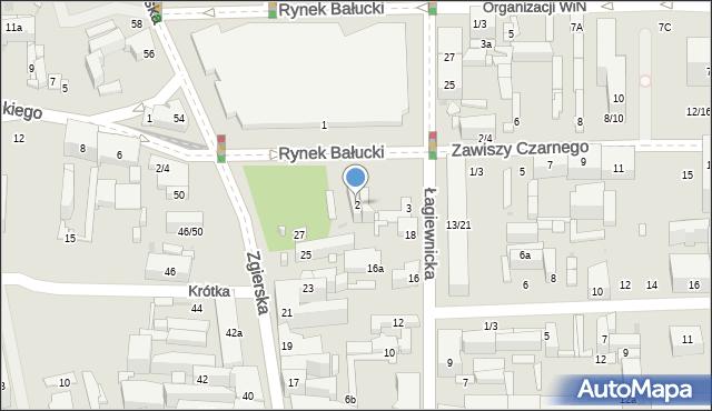 Łódź, Rynek Bałucki, 2, mapa Łodzi