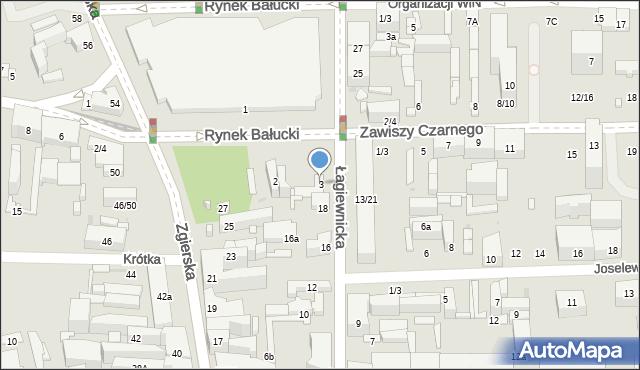 Łódź, Rynek Bałucki, 3, mapa Łodzi