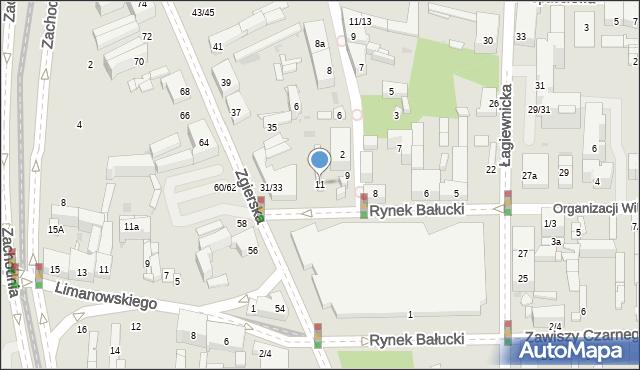 Łódź, Rynek Bałucki, 11, mapa Łodzi