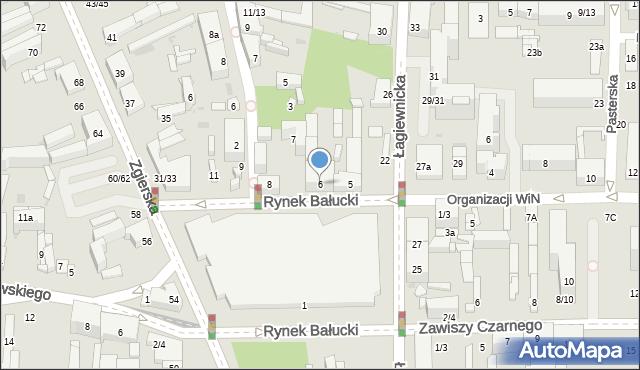 Łódź, Rynek Bałucki, 6, mapa Łodzi
