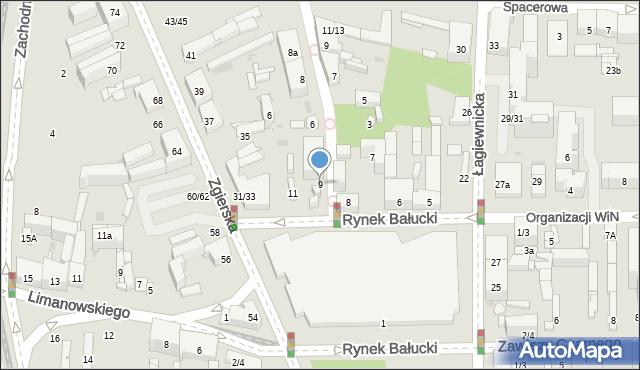 Łódź, Rynek Bałucki, 9, mapa Łodzi