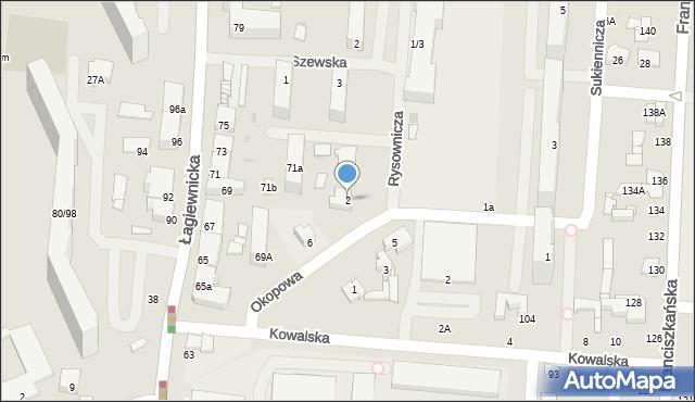 Łódź, Rysownicza, 2, mapa Łodzi