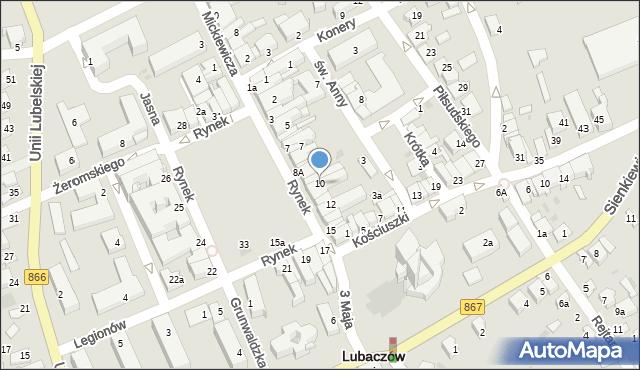 Lubaczów, Rynek, 10, mapa Lubaczów