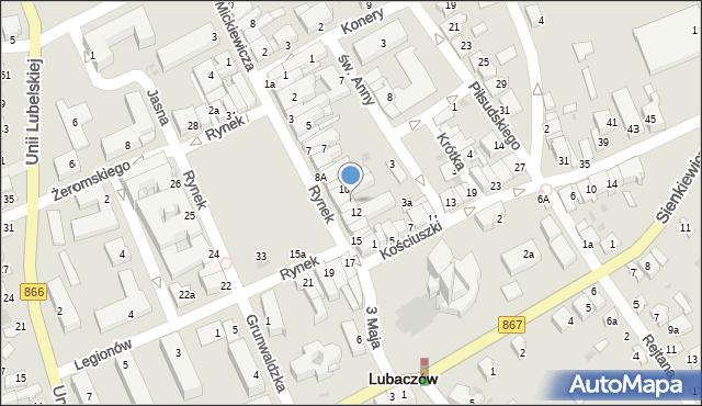Lubaczów, Rynek, 11, mapa Lubaczów