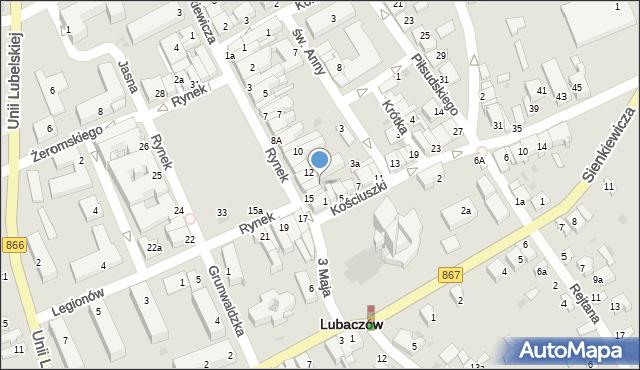 Lubaczów, Rynek, 14, mapa Lubaczów