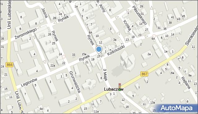 Lubaczów, Rynek, 17, mapa Lubaczów
