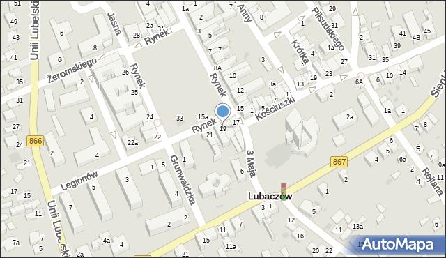 Lubaczów, Rynek, 19, mapa Lubaczów