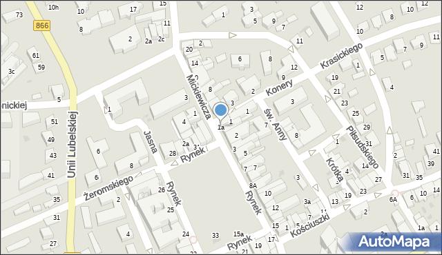 Lubaczów, Rynek, 1a, mapa Lubaczów
