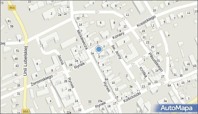 Lubaczów, Rynek, 2, mapa Lubaczów