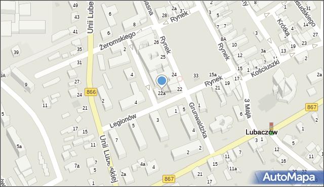 Lubaczów, Rynek, 22a, mapa Lubaczów